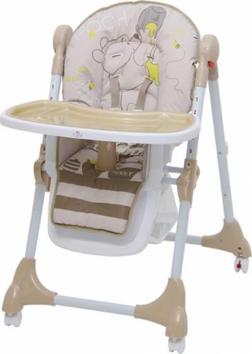 Стульчик для кормления Polini Disney Baby 470 Медвежонок Винни и его друзья Макиато Бежевый