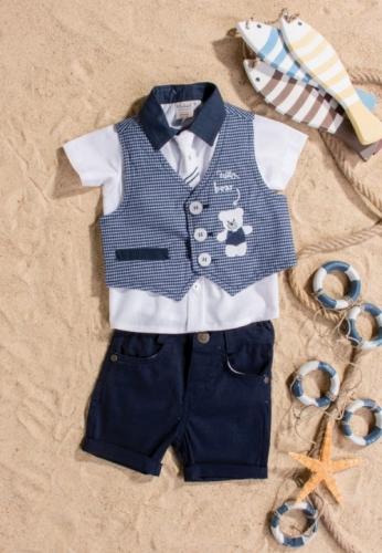 Костюм для мальчика, размер 6 месяцев, темно-синий, Bebus