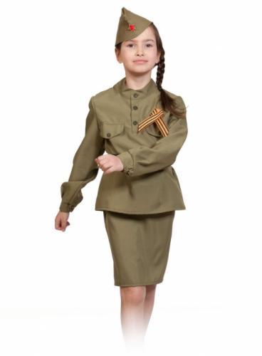 Карнавальный костюм Солдаточка, 9-10 лет
