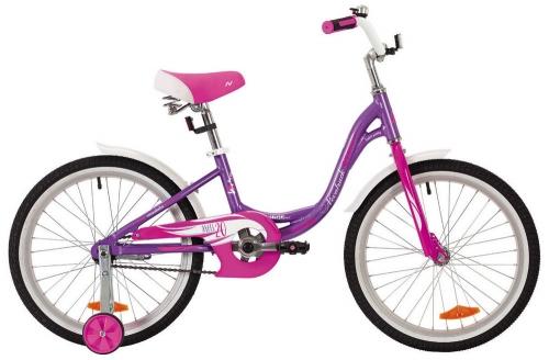 Велосипед Novatrack Angel, фиолетовый, рама 20