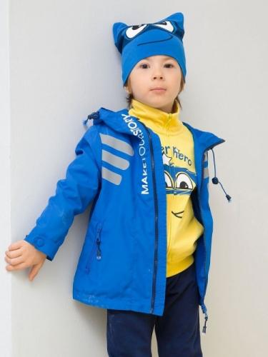 Ветровка для мальчиков, размер 4, синяя Pelican