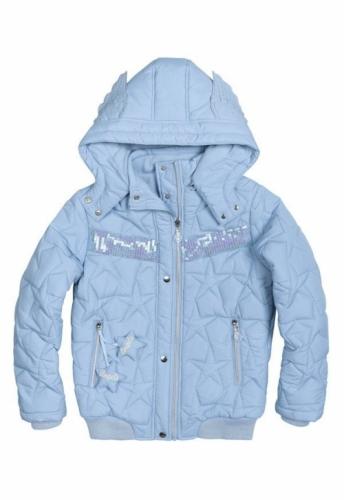 Куртка для девочек, размер 8, демисезонная, голубая Pelican GZWL484