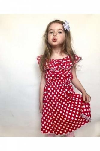 Летнее платье для девочки в горошек Bon&Bon, 4-7 лет, в ассортименте
