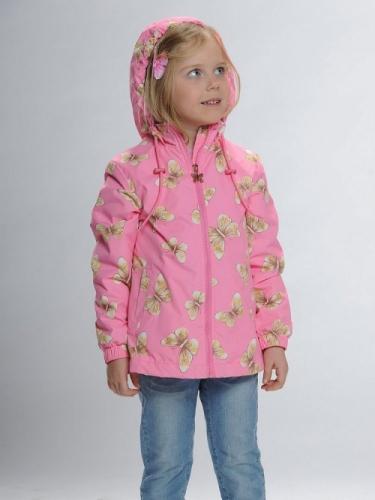 Ветровка для девочек, размер 4, розовая Pelican