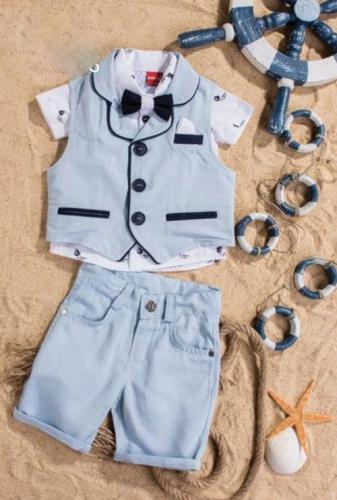 Костюм для мальчика, размер 6 месяцев, голубой, Bebus