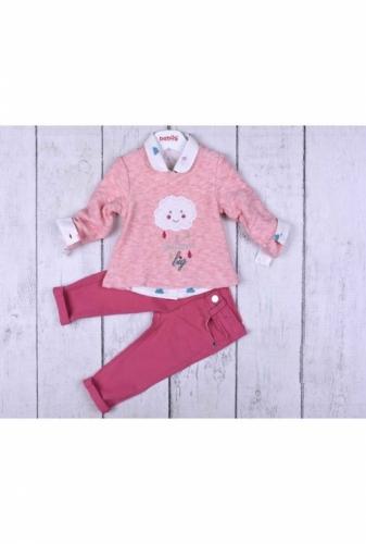 Комплект 3 предмета для девочки, размер 36 месяцев, розовый, Bebus