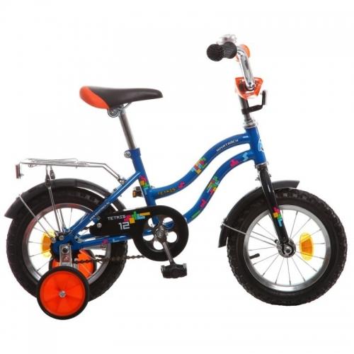 Велосипед Novatrack Tetris, синий, рама 12