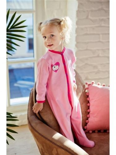 Комбинезон Lucky Child LOVE (арт. А6-101/розовый),размер 20 (62-68)