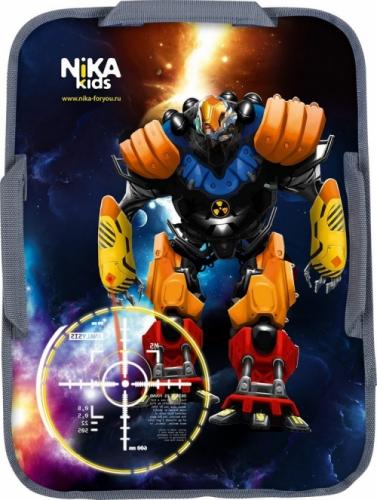 Ледянка Nika мягкая прямоугольная 40х54 см рисунок Роботы, цвет черный