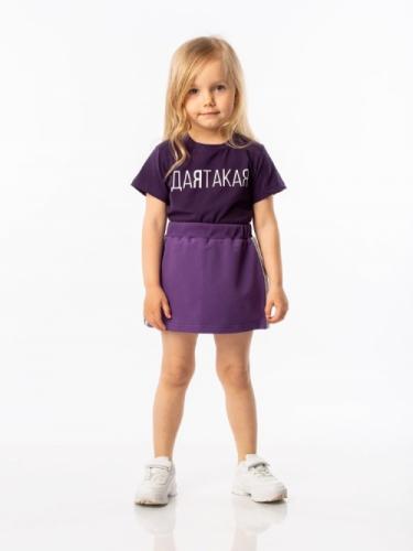 Футболка для девочки, размер 92-98, фиолетовый Bodo 4-114U