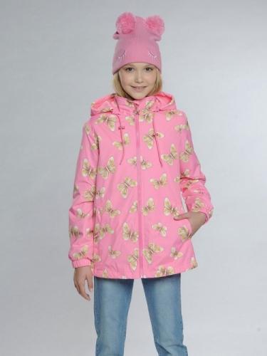 Ветровка для девочек, размер 8, розовая Pelican