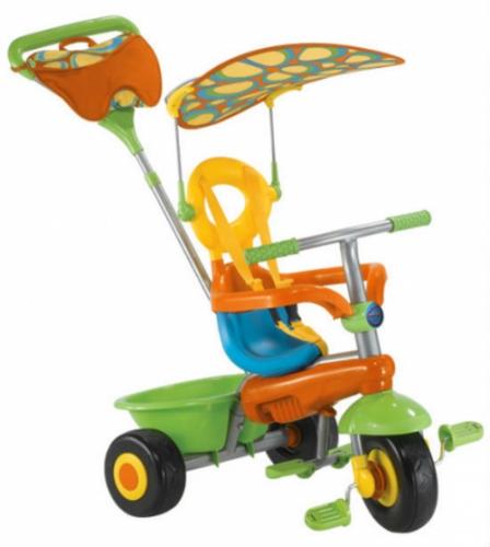 Велосипед Smart-Trike Fresh, синий/оранжевый/зеленый, трехколесные (до 3 лет)