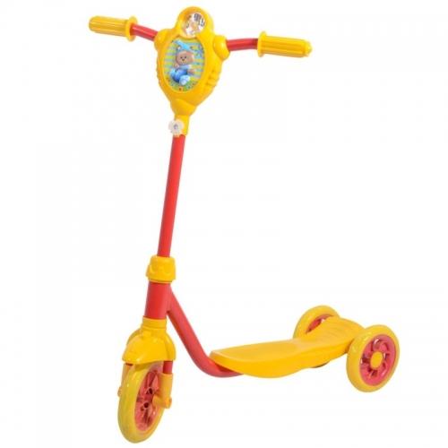 Самокат Novatrack Foxx Baby PU, желто-красный