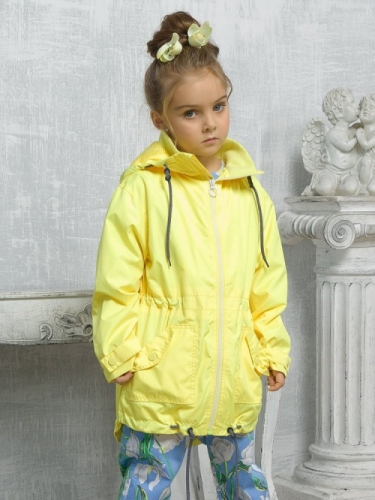 Ветровка для девочек, размер 6, желтая Pelican