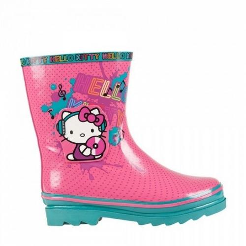 Сапоги велингтон Hello Kitty бирюзовый/розовый, размер 33 (210 мм)