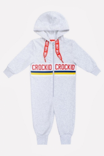 Комбинезон Сrockid светло-серый меланж, размер 98