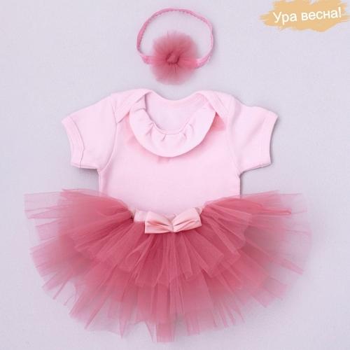 Комплект для девочки Малина весна-осень Крошкин дом р.26 (рост 80-86 см), розовый
