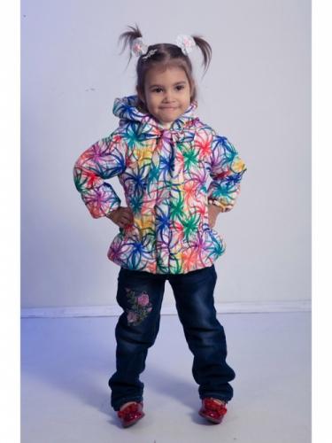 Куртка для девочек, размер 28, весна-осень, желтая Modus L, Каприз