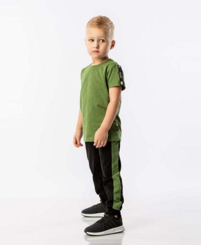 Брюки для мальчика черный/зеленый, размер (86-92) Bodo 6-108U