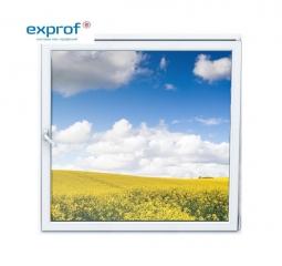 Окно ПВХ Exprof 600х600 мм одностворчатое О 3 стеклопакет