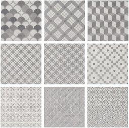 Плитка для пола Kerama Marazzi Карнаби-стрит 1576 20.1х20.1 орнамент серый