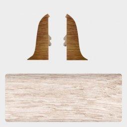 Заглушка торцевая левая и правая (блистер 2 шт.) Т-пласт 077 Дуб Северный / Дуб Светлый