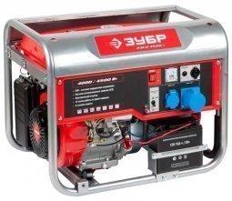 Генератор бензиновый ЗУБР ЗЭСБ-4500-Э 4000/4500 Вт ручной/электрический запуск