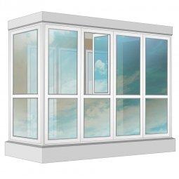 Остекление балкона ПВХ Veka в пол с отделкой вагонкой с утеплением 3.2 м Г-образное