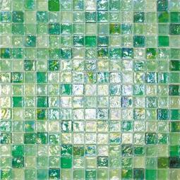 Мозаика Elada Luster Glass M8LА455 зелёный микс 32.7x32.7