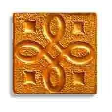 Декор Freelite Стеклянные вставки для пола Давос Золото 6x6