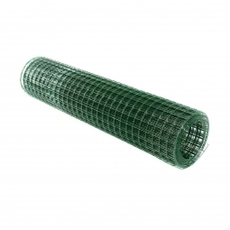 Сетка сварная ПВХ d=1,8 мм, ячейка 50х50, 1500х1500 мм, оцинкованная