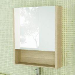 Шкаф-зеркало Comforty Марио-60 сосна лоредо
