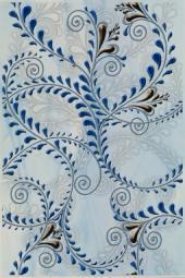Декор Береза-керамика Елена каприз синий 20х30