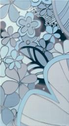 Панно Lasselsberger Камила цветы голубое (комплект 4 шт) 19,8х39,8