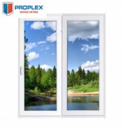 Окно раздвижное PROPLEX 2100x2000 двухстворчатое ЛР1000/ПГ1000 1 стекло