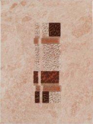 Декор Шаxтинская Плитка Каменный Цветок Коричневый 25x33