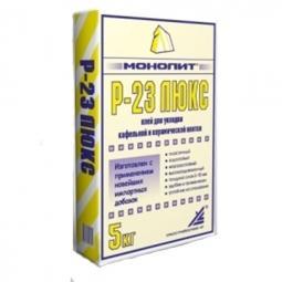 Клей Монолит Р-23 ЛЮКС для кафельной и керамической плитки 15 кг
