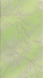 Декор Lasselsberger Готланд Орхидея светло-зеленый 25х45