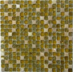 Мозаика Bonаparte Glass Stone 3 желтая глянцевая 30x30