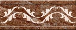 Бордюр Нефрит-керамика Бельведер 13-01-1-24-43-15-410-0 25x10 Коричневый