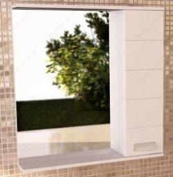 Шкаф-зеркало Comforty Модена 60 Белый