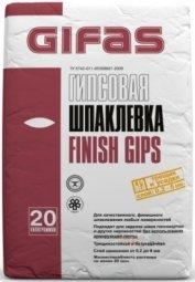 Шпатлевка Gifas Финиш Гипс финишная гипсовая 20 кг