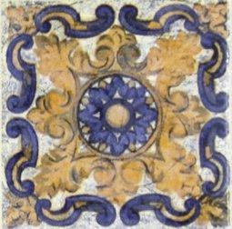 Вставка Сокол Майолика D707-5 орнамент матовая 8х8