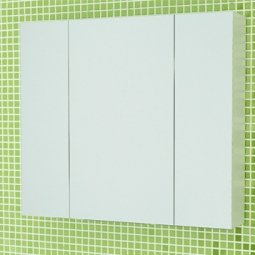Шкаф-зеркало Comforty Римини-80 белый
