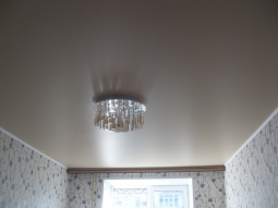 Натяжной потолок Франция одноуровневый металлик