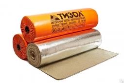 Базальтовый утеплитель Тизол МБОР-Ф 10 фольгированный ширина 1.5 м 24м2 в рулоне
