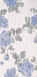 Декор Lasselsberger Фиорди черно-голубой 19,8х39,8