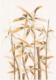 Декор Береза-керамика Ретро бамбук 1 коричневый 25х35