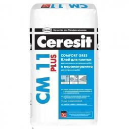 Клей Ceresit CM11 Plus для керамической плитки для внутренних/наружных работ 25 кг