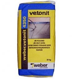 Наливной пол Weber.Vetonit 4350 для звукоизоляционных полов 25 кг
